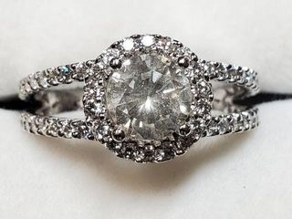 14K WHITE GOlD DIAMOND 1CT  DIAMOND 0 75CT