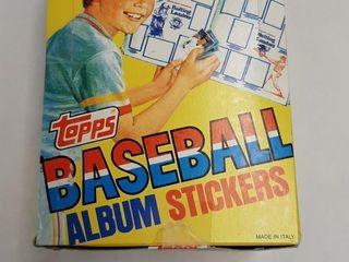 1981 TOPPS BASEBAll AlBUM STICKERS BOX