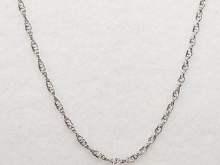 10K WHITE GOlD CHAIN  lENGTH 16 WEIGHT 0 33G