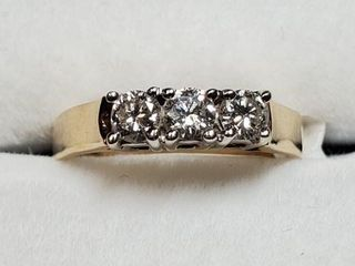 14K YEllOW GOlD DIAMOND 0 3CT RING