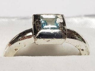 SIlVER TOP RING