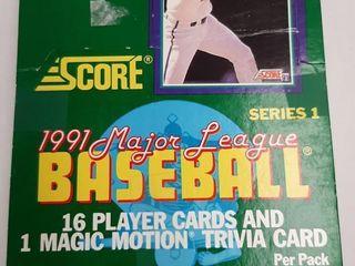 SCORE 1991 MAJOR lEAGUE BASEBAll CARDS SERIES 1