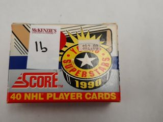 1990 SCORE YOUNG SUPERSTARS 40 NHl PlYER CARDS