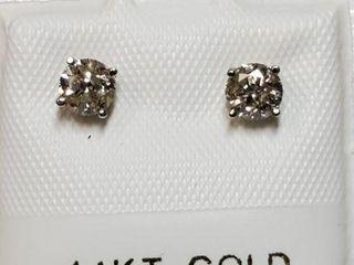 14K WHITE GOlD DIAMOND 0 48CT EARRINGS