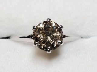 14K WHITE GOlD DIAMOND 1 2CT RING