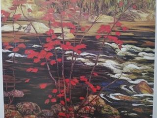 THE RED MAPlE PRINT BY AY JACKSON