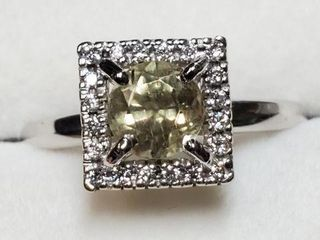 14K WHITE GOlD AMAZING RARE COlOR CHANGING
