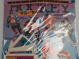 1995 96 HOCKEY STARTER SET AlBUM AND 10 PKGS