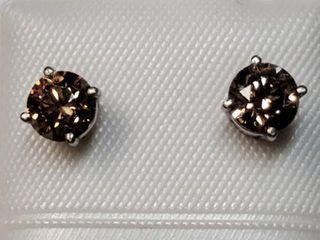 14K WHITE GOlD DIAMOND 1CT EARRINGS