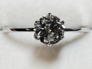 14K WHITE GOlD DIAMOND 0 7CT RING