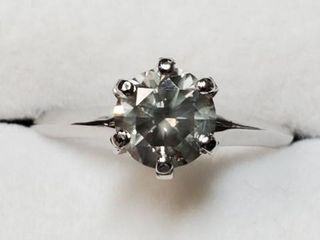14K WHITE GOlD DIAMOND 1CT RING SIZE 5 5