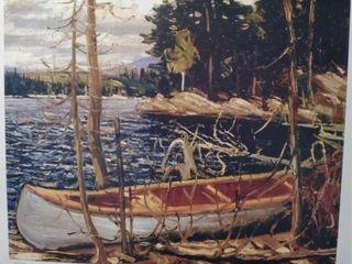 THE CANOE PRINT BY TOM THOMSON