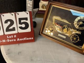 linden Picture Clock  1910 Touring Car