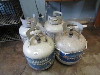 4 Propane Bottles