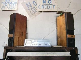 Radio Tape receiver and 2 Speakers