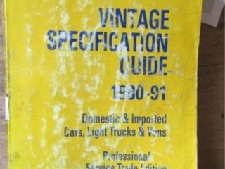 Vintage Specification Guide