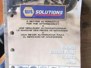 Napa Vintage Manual