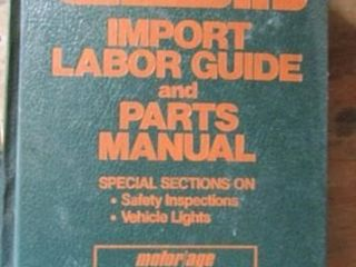 ChiltonIJs Import labor Guide and Parts Manual