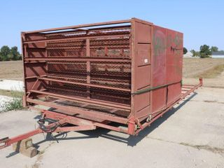 10  X 19  T A TOBACCO TRAIlER WITH 3 RACKS