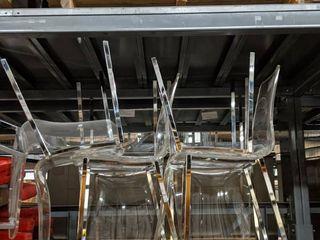 9  Clear Acrylic Chairs