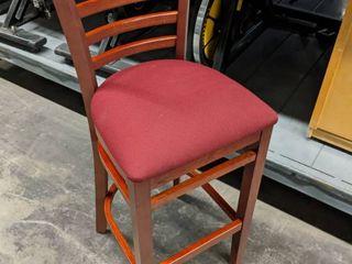 6  Oak and Cloth Seat Bar Stools