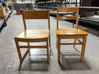 12  Wooden Chairs