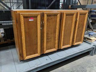 large Custom Made Wood Storage Cabinet