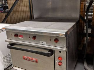 Vulcan French Top Stove With Oven Below