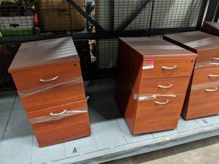 4  laminated Wood File Storage Cabinets
