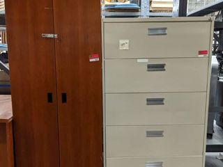 5 Drawer lateral File Cabinet And Wooden Cabinet