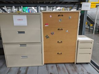 3  Various Size File Cabinets
