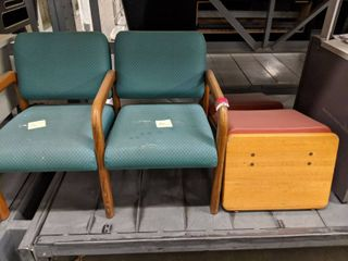 2  Waiting Room Chairs And  1  Bench