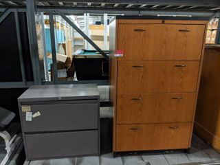 File Cabinet and Wooden Storage Cabinet