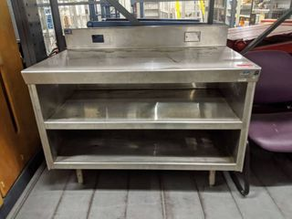 Stainless Steel Table with Storage Below