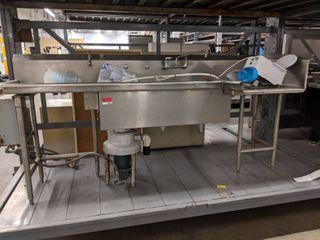 Stainless Steel l Shaped Dishwasher Prewash Station