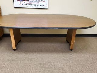 8ft Oval Office Table