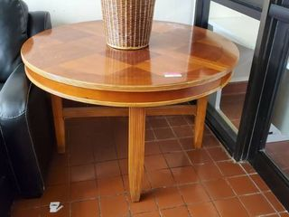 4ft Round Wood Table