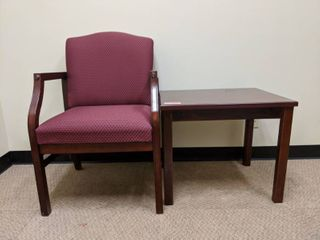 Chair And Wooden Table