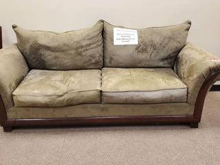 8ft Green Suede Couch