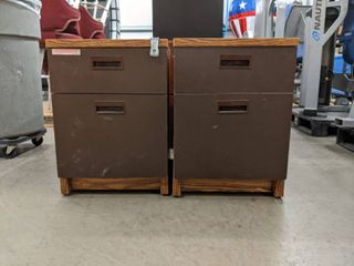 2  Rolling File Cabinets