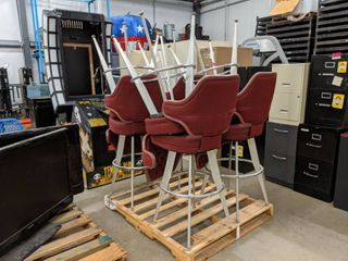 Pallet Of Eight High Top Swivel Stools
