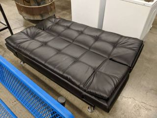 Folding Futon Bed And Assorted Pillows