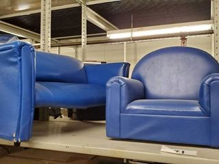 Blue Childrens Couch  Blue Childrens Chair
