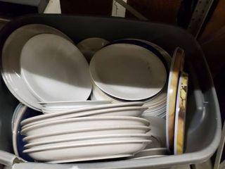 Tote Full Of Dishware