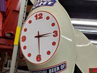 Bud light Bowling Ball Clocks