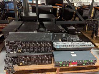 large lot Of Audio Equipment