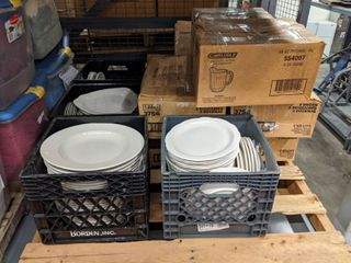 large Set of Plates and Dishes