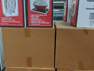 8 Cases Of New Football and Basketball Plexiglass Stand Displays