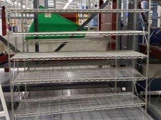 2  Metal Shelving Units