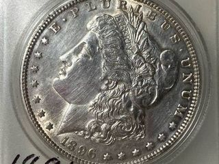 1896  1 Morgan Silver Dollar